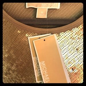 Michael Kors Gold Sequin Dress
